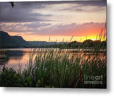 Metal Print featuring the photograph Winona Sunset by Kari Yearous