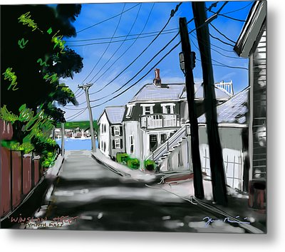Metal Print featuring the painting Winslow Street by Jean Pacheco Ravinski