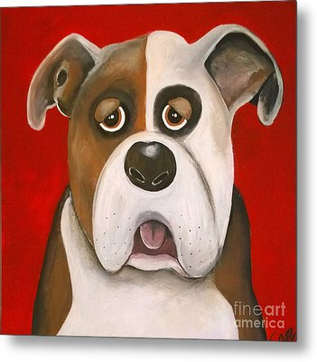 Winston The Dog Metal Print
