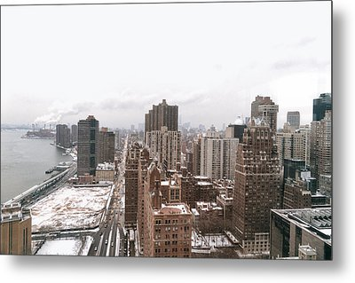 Winter Afternoon - Above New York City Metal Print by Vivienne Gucwa