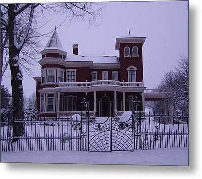 Winter Afternoon At Stephen King Victorian Mansion In Bangor Maine Metal Print