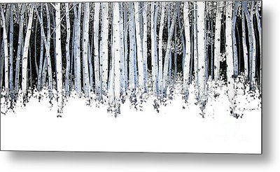 Winter Aspens  Metal Print by Michael Swanson