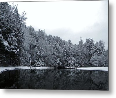 Winter At Clear Creek Metal Print by Anthony Thomas