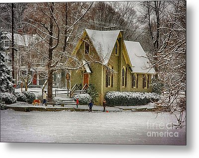 Winter At Lake Afton Metal Print by Nicola Fiscarelli