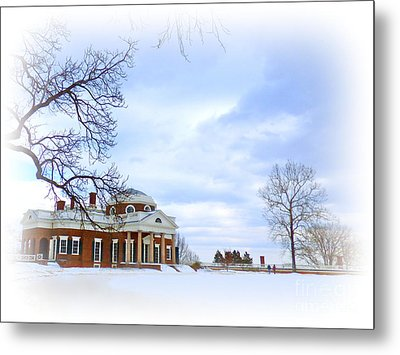 Winter At Monticello Metal Print