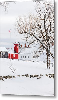 Metal Print featuring the photograph Winter At Shaker Village by Robert Clifford