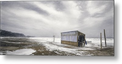 Winter At The Cabana Metal Print by Scott Norris