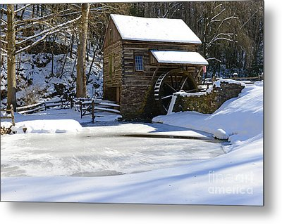 Winter At The Mill Metal Print by Paul Ward