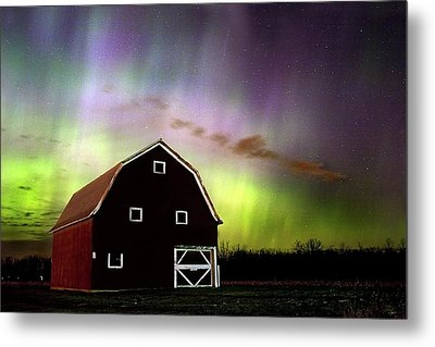 Winter Aurora Metal Print by Timothy McIntyre