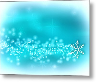 Winter Background Metal Print
