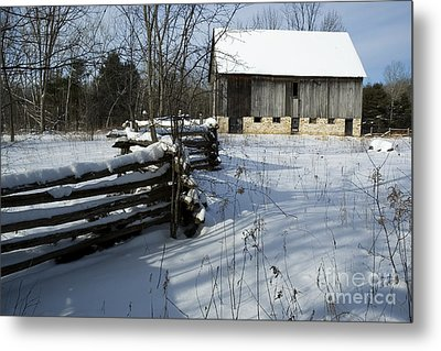 Winter Barn I Metal Print by Jessie Parker
