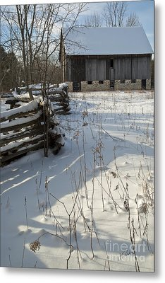 Winter Barn II Metal Print by Jessie Parker