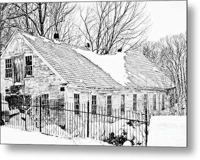 Winter Barn Metal Print by Marcia Lee Jones