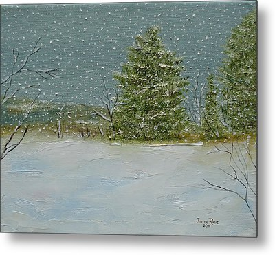 Metal Print featuring the painting Winter Blanket by Judith Rhue