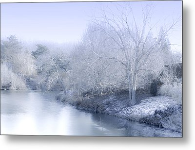 Winter Blue And White Metal Print by Julie Palencia