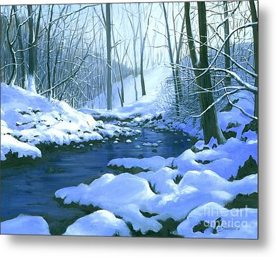 Metal Print featuring the painting Winter Blues - Sold by Michael Swanson