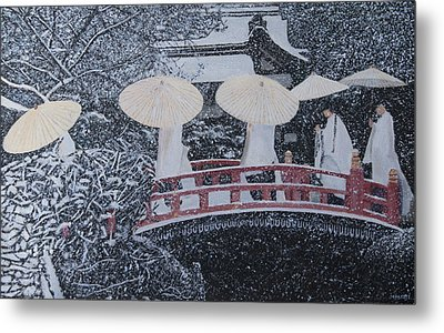 Winter Bridge Of Japan Metal Print