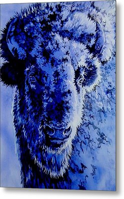 Winter Buffalo Metal Print