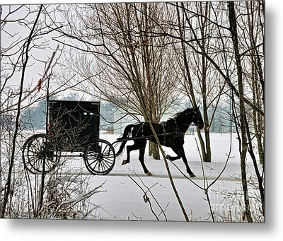 Winter Buggy Metal Print