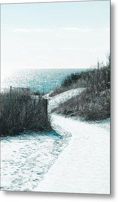 Winter By The Sea Metal Print by Allan Millora