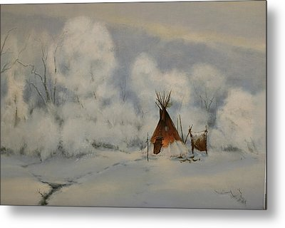 Winter Camp Metal Print