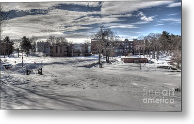 Winter Campus Metal Print