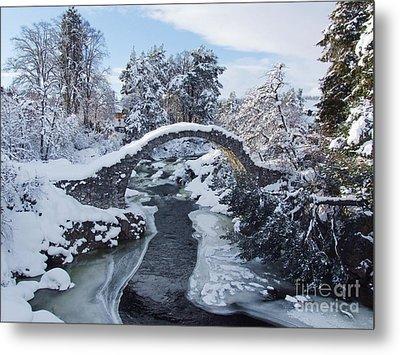 Winter - Carrbridge - Scotland Metal Print