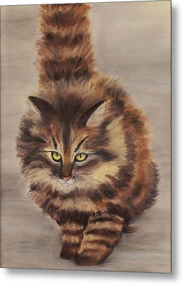Winter Cat Metal Print by Anastasiya Malakhova