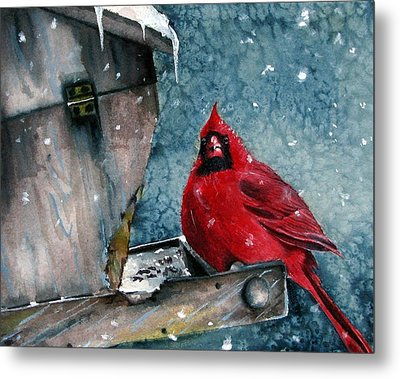 Metal Print featuring the painting Winter Chills by Margit Sampogna