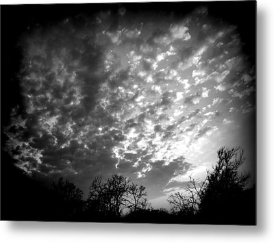 Winter Cool Front Sunset Metal Print by James Granberry