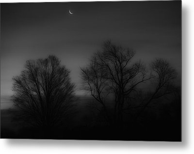 Winter Crecent Moon Metal Print by Bill Wakeley
