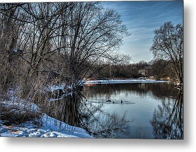 Winter Creek 2 Metal Print by Dan Crosby