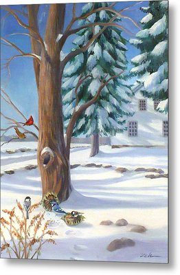 Winter Day Metal Print by Janet  Zeh