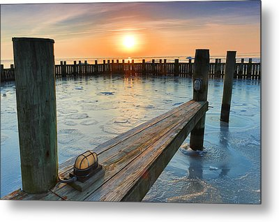 Metal Print featuring the photograph Winter Docks by Jennifer Casey