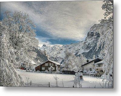 Winter Dream In Engelberg Metal Print by Caroline Pirskanen