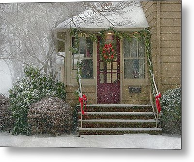 Winter - Dreaming Of A White Christmas Metal Print by Mike Savad