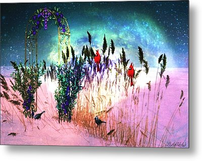 Metal Print featuring the digital art Winter Dreams by Mary Anne Ritchie