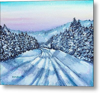 Winter Drive Metal Print by Shana Rowe Jackson