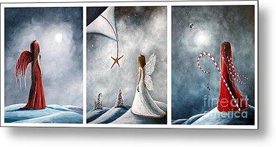 Winter Fairies By Shawna Erback Metal Print by Shawna Erback