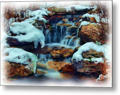 Winter Falls Metal Print