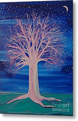 Winter Fantasy Tree Metal Print