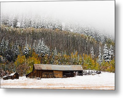 Winter Farm Metal Print