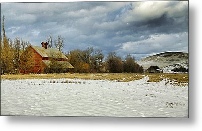 Winter Farm Metal Print by Steve McKinzie