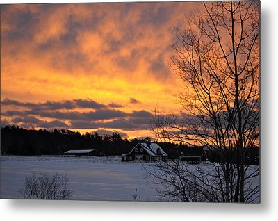 Winter Fire Metal Print