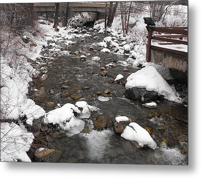 Winter Flow Metal Print by Adam Cornelison