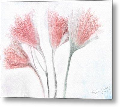 Winter Flowers Metal Print by Kume Bryant