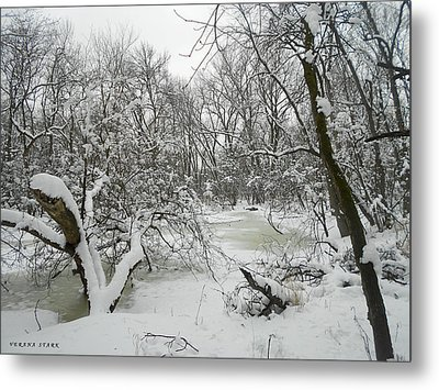 Winter Forest Series 3 Metal Print by Verana Stark