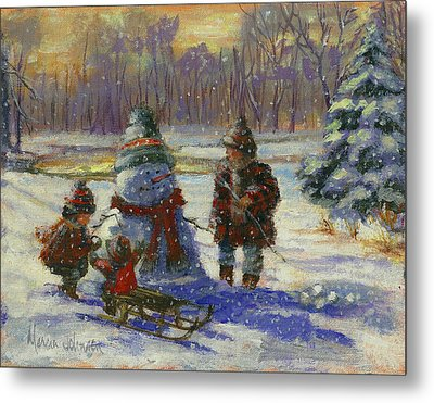 Winter Friend Metal Print by Marcia Johnson