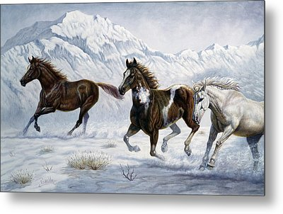 Winter Frolic Metal Print by Gregory Perillo
