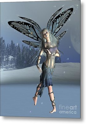 Winter Frost Fairy Metal Print by Fairy Fantasies
